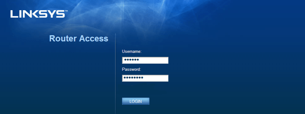 Linksys Router Setup Access Page